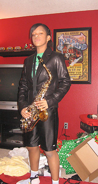 Shanna with new sax