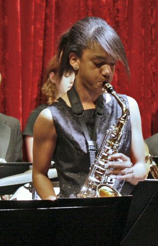 SL playing Sax at JM